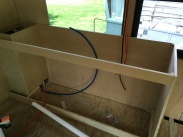 Frame for the kitchen counter and sink area